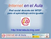 Internet en el aula: Red social doc...