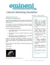 Internet marketing newsletter janua...