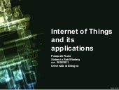 Internet of Things and its applicat...