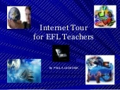 Internet tour for student teachers