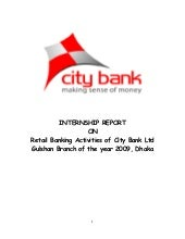Internship report on retail banking...