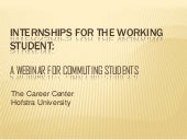 Internships for Working Students - ...