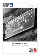 Internships In India - A Guide by K...