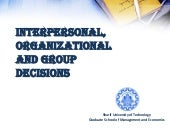 Interpersonal, Organizational, And ...