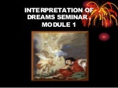 Interpretation of dreams seminar. m...