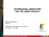 Interregional observatory lisbon re...