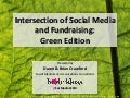 Intersection between social media and fundraising green edition