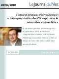 Interview de Bertrand jonquois dans journal du net le 28 septembre 2010