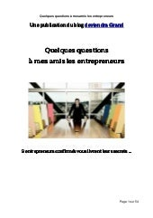 Interview entrepreneurs - v2 du 12 ...