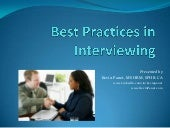 Interviewing Best Practices