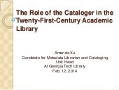 Role of Cataloger in the 21st Centu...