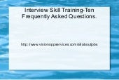 Ten Frequently Asked Questions Duri...