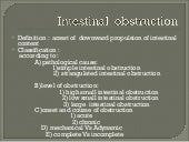 Intestinal  obstruction