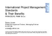 Intl. pm standards prince2, pmi &...