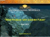 International Minerals Corp. video