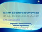 Intranet and SharePoint Governance