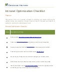 Intranet Optimization checklist