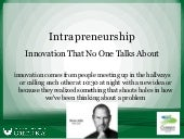 Intrapreneurship by Ryan Kauth