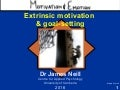 Intrinsic extrinsic motivation and goal-setting