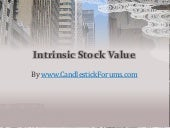 Intrinsic Value of Stocks