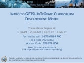 Intro to GETSI/InTeGrate Development Model