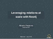 Leveraging relations at scale with ...
