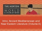 Intro: Ancient Mediterranean and Near Eastern Literature