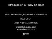 Introducción a Ruby on Rails