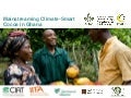 Introduction Climate Smart Value Chains :: Cocoa in Ghana