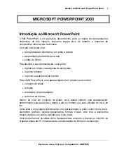 Introducao ao power point 2003