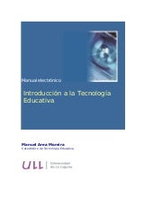 Introduccion a la tecnologia educativa