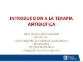Introduccion a la terapia antibiotica pk pd