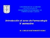 INTRODUCCION A LA FARMACOLOGIA GENERAL