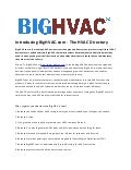 Introducing BigHVAC.com – The HVAC Directory