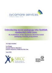 Introducing Social Pedagogy Into Sc...