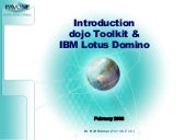 Introduction Dojo Toolkit & IBM Lot...