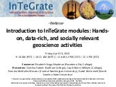 Introduction to InTeGrate Modules: Hands-on, data-rich, and socially-relevant geoscience activities