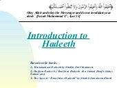 Introduction   Mustalah Al Hadeeth