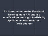 Introduction to Facebook Development