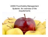Introduction To Iso22000