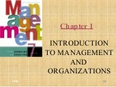 Introduction To  Management And  Organization  P O M