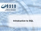 Introduction to-sql