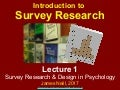 Introduction to Survey Research