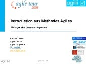 """Introduction aux Méthodes Agiles"",..."