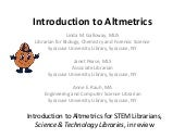 Introduction to Altmetrics