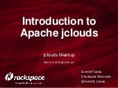 Introduction to Apache jclouds