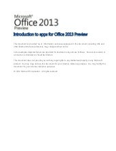 Introduction to apps for office 201...