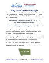 Introduction to  Barter With Montan...