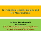 Introduction to epidemiology and it...