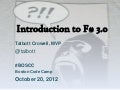 Introduction to F# 3.0